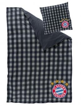 FC Bayern Wende-Bettwäsche, Karos
