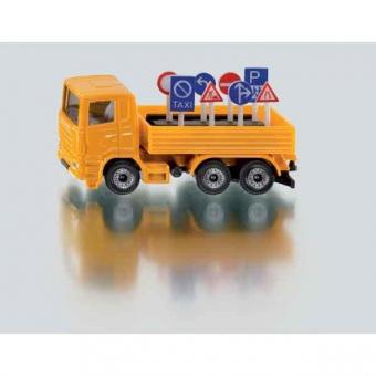 Siku 1322 LKW mit Verkehrszeichen
