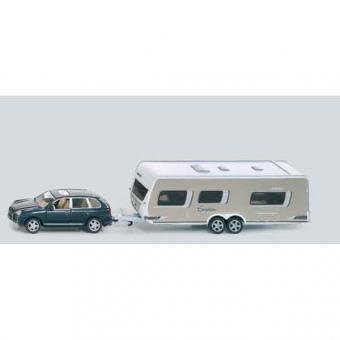 Siku 2542 PKW mit Wohnwagen