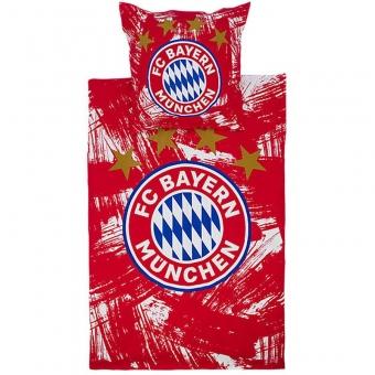 FC Bayern München Bettwäsche rot/weiß Biber
