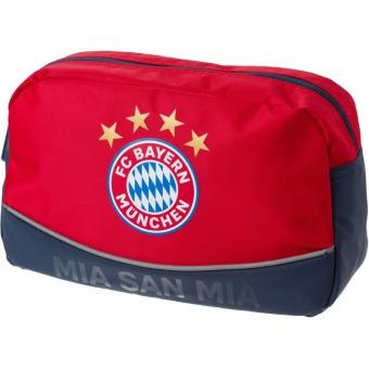 FC Bayern München Kulturbeutel MIA SAN MIA, Farbe: rot