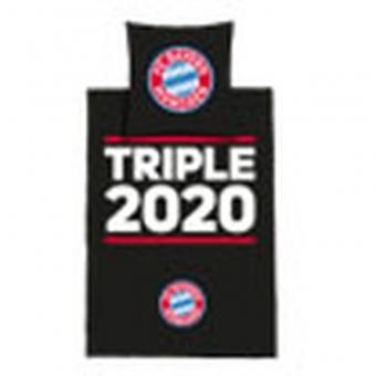 FC Bayern München Bettwäsche Triple 2020, Farbe: rot