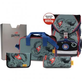 DerDieDas Schulranzen Set Ergoflex XL Octopus  5-tlg. + gratis Tuschkasten