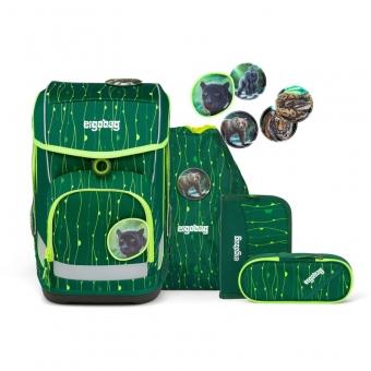 Ergobag Schulrucksack Set (5-tlg.) cubo LUMI-Edition, RambazamBär