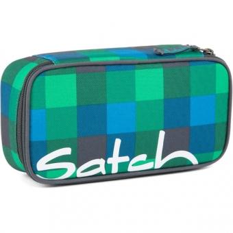 Satch Schlamperbox, Hip Flip, Multikaro Blau Grün