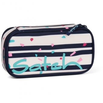 Satch Schlamperbox, Happy Flakes, Farbe/Muster: rose, dark blue