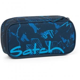 Satch Schlamperbox Blue Compass, Farbe/Muster: blau gemustert