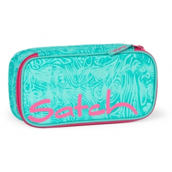 Satch Schlamperbox, Aloha Mint, Farbe/Muster: mint, weiß
