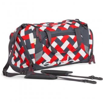 Satch Sporttasche, Chaka Bricks, Rechteck Rot Weiß