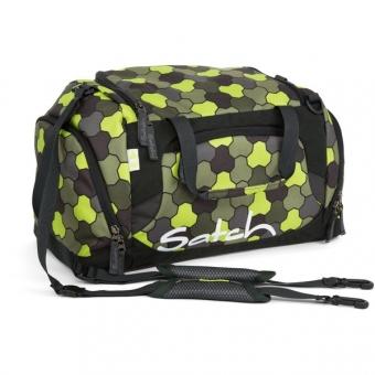 Satch Sporttasche, Jungle Flow, Grün-schwarze Punkte