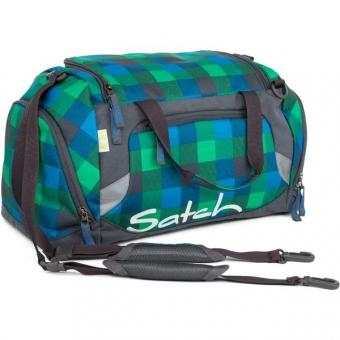 Satch Sporttasche, Hip Flip, Multikaro Blau Grün