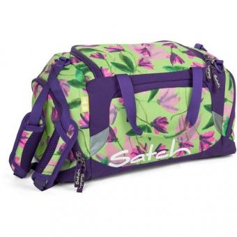 Satch Sporttasche, Ivy Blossom, Lila Blumen