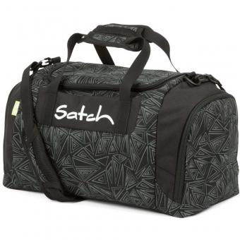 Satch Sporttasche Ninja Bermuda, Farbe/Muster: Schwarz, reflective, Silber