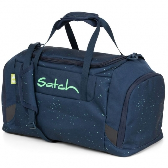 Satch Sporttasche Space Race, Farbe/Muster: Blau grün gesprenkelt