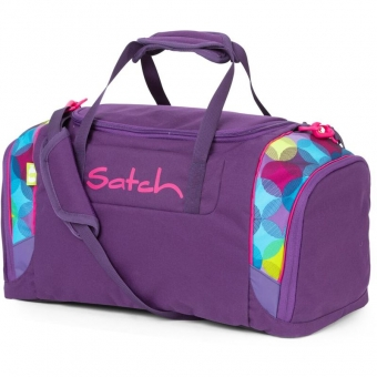 Satch Sporttasche, Sunny Beats, Farbe/Muster: lila, gelb, türkis