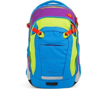 Satch Match Schulrucksack, Flash Jumper, Color Block Blau Grün