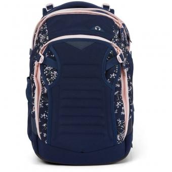 Satch Match Schulrucksack, Bloomy Breeze, Farbe/Muster: dark blue, rose, white