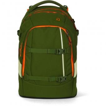 Satch Schulrucksack, Green Phantom, Grün Orange