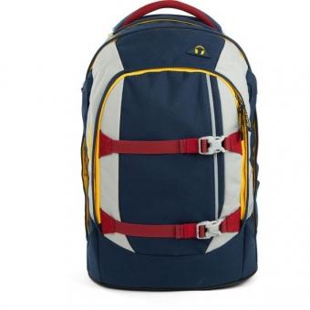 Satch Pack Schulrucksack, Flash Hopper, Color Block Dunkelblau