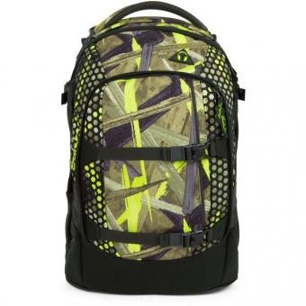 Satch Pack Schulrucksack, Jungle Lazer, Grün Graue Streifen
