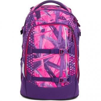 Satch Pack Schulrucksack, Candy Lazer, Lila Pinke Streifen