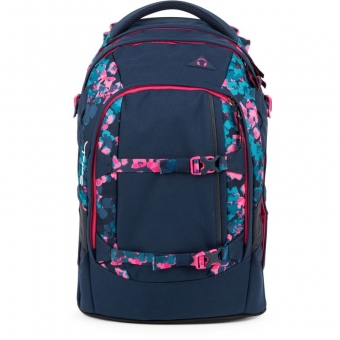 Satch Schulrucksack, Awesome Blossom , Farbe/Muster: Blau, Pink, Türkis