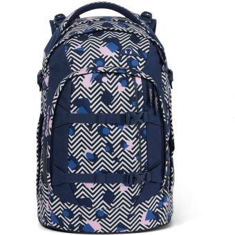 Satch Schulrucksack, Stoney Mony, Farbe/Muster: purple, pink, turquoise