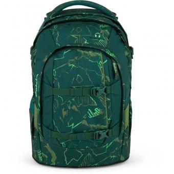 Satch Schulrucksack, Green Compass, Farbe/Muster: Grün