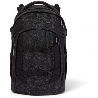 Satch Schulrucksack, Ninja Bermuda, Farbe/Muster: black, silver, reflective