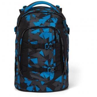 Satch Schulrucksack, Blue Triangle, Farbe/Muster: blue, black, grey