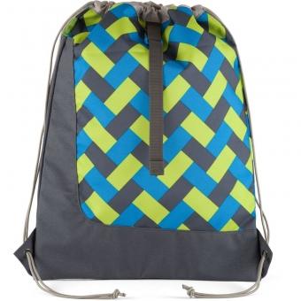 Satch Sportbeutel Chaka Curbs, Farbe/Muster: Grün, Blau, Grau
