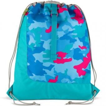 Satch Sportbeutel, Caribic Camou, Blau Pink Camouflage
