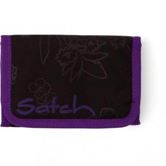 Satch Geldbeutel, Purple Hibiscus, Schwarz Lila