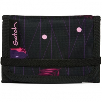 Satch Wallet, Mystic Nights, Farbe/Muster: purple, black, rose