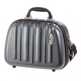 HARDWARE Profile Plus Beautycase, Farbe: Metallic Grey Brushed