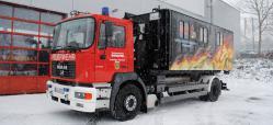 Herpa 090506 MAN M 2000 Abrollcontainer-LKW Kreisjugendfeuerwehr Westerwald 1:87