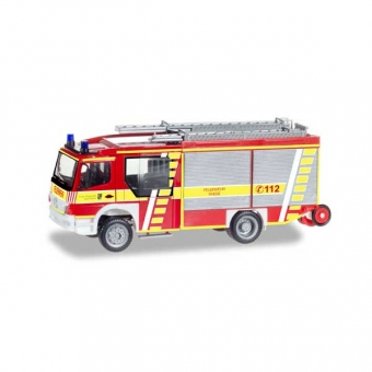 Herpa 093132 Mercedes-Benz Atego Ziegler Z-Cab LF 20 Feuerwehr Rhede 1:87