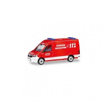 Herpa 094900 MAN TGE Kasten HD Feuerwehr Aachen Technische Hilfeleistung 1:87