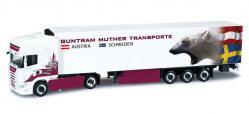 Herpa 302036 Scania R TL Kühlkoffer-Sattelzug Guntram Muther (A) 1:87