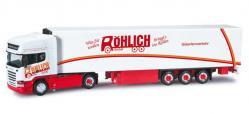 Herpa 302654 Scania R Streamline Topline Kühlkoffer-Sattelzug Röhlich 1:87
