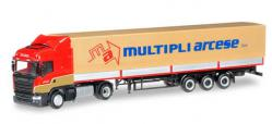 Herpa 304061 Scania R 13 HL Planen-Sattelzug Multipli Arcese (I) 1:87