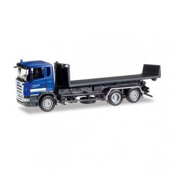 Herpa 307505 Scania R 04 Abrollflat-LKW THW Elmshorn 1:87