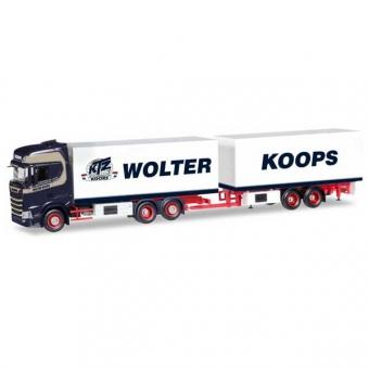 Herpa 308946 Scania CS HD Kühlkoffer-Hängerzug Wolter Koops(NL) 1:87