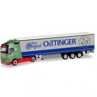 Herpa 311342 Volvo FH Gl. Gardinenplanen-Sattelzug Wandt Oettinger 1:87