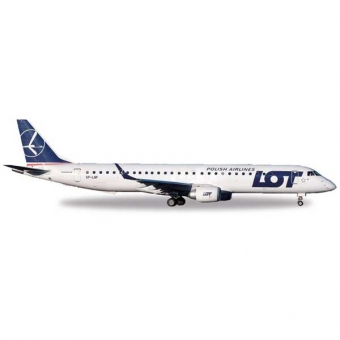 Herpa 530576 Wings Embraer E195 LOT Polish Airlines 1:500