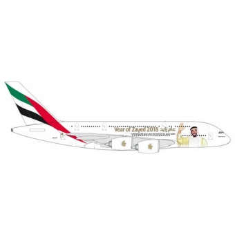 Herpa 531535 Wings Airbus A380 Emirates Year of Zayed 1:500