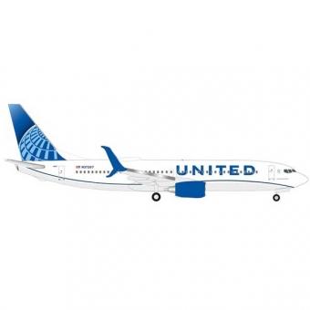Herpa 533744 Wings Boeing 737-800 United Air Lines - new 2019 colors 1:500