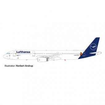 Herpa 612432 SnapFit Airbus A321 Lufthansa - Die Maus 1:200