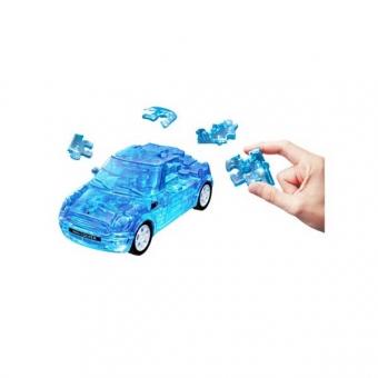 Herpa 80657071 Puzzle Fun 3D Mini Cooper transparent blau 1:32