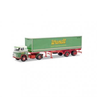 Schwarz 87MBS026000 Scania Vabis LB 76 Container-Sattelzug Spedition Wandt 1:87